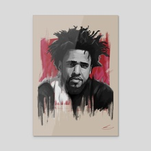 J Cole - Acrylic by rory taylor