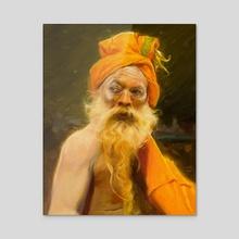 Orange Sage from Varanasi India - Acrylic by Pavel Sokov