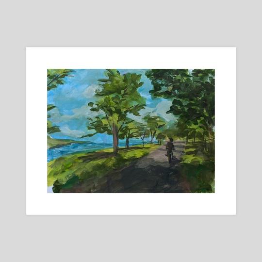 Biking down Lakeshore Drive by Tammy Hua