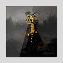 Light Bulb Witch - Acrylic by Jenna Gray
