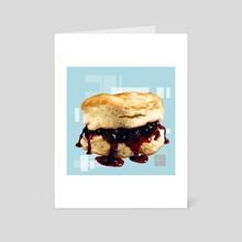 Biscuit vs Scone - Art Card by ArtofYorugami