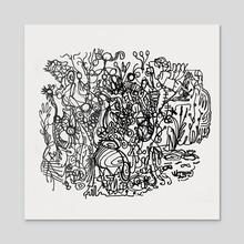 Pure Psychic Automatism - Acrylic by Nicholas Rakita