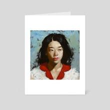 Red Petals - Art Card by John Larriva
