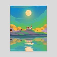 Evening - Canvas by Arina Mochalova