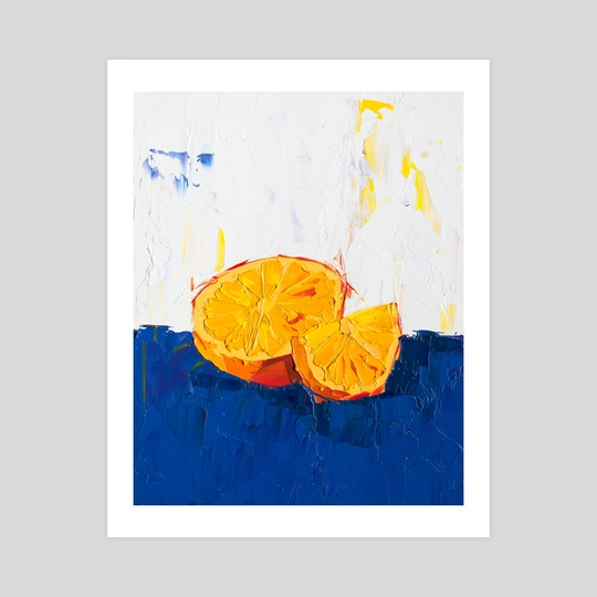 A Very Orange Painting by Eric Buchmann