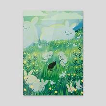 Bunny Hills - Acrylic by Titsay