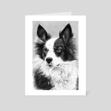 Dog Portrait 2 - Art Card by Aurelia Chaintreuil