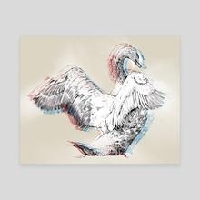 Swan 3D - Canvas by Pablo Puentes