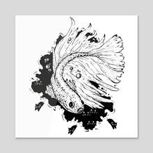 Fish - Acrylic by Valio Art
