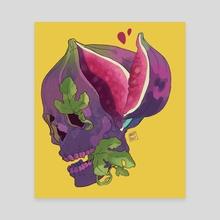 Fig skull - Canvas by Daphnée PIRKER