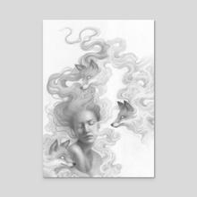 Fox Spirits - Acrylic by Marta Wit
