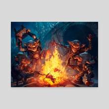 Goblin Gathering - Canvas by Svetlin Velinov