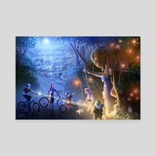 Moonlight Adventure - Canvas by Jon Hrubesch