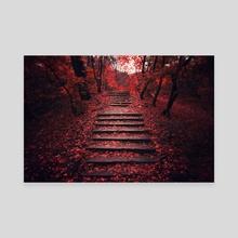 Autumn Stairs - Canvas by Tóth Zoltán