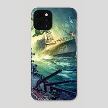 Destroyermen:  Unknown Seas - Phone Case by Dominick Saponaro
