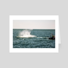 Whale Watching  - Art Card by Liora Bronshtein