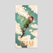 NEVER GROW UP - Canvas by Jason Piperberg
