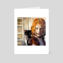 Leeloo - 5th Element (1997) - Art Card by kevin mccall