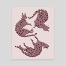 Big Cats - Canvas by Genna Campton
