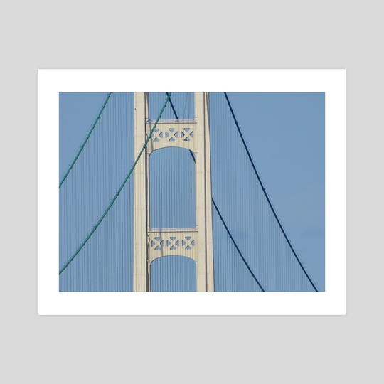 Mackinac Bridge Sky by Olivia Olenzuk