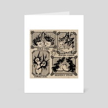 Elemental Hands - Art Card by Chloe Zorn