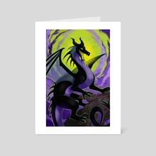 Dragon Maleficent - Art Card by Aleksandra Popowicz