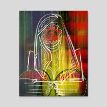 Matron Alien X - Acrylic by Hannah Wells
