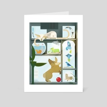 Charley's Petshop - Art Card by Worth Dayley