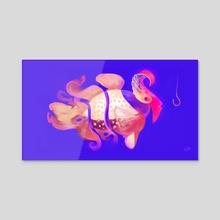 Tiger Fish - Acrylic by yu idd