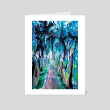 Mysterious forest - Art Card by Nataliia Belozerova
