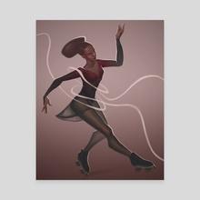 Skating - Canvas by Laura Faraci