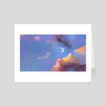 Moon sky - Art Card by Marite Desaine