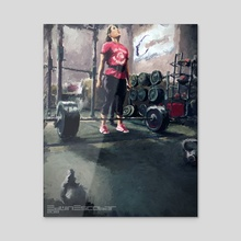 the gym no. 6 - Acrylic by Edwin Escobar