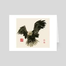 Eagle - 67 - Art Card by River Han