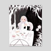 Witch Garden - Acrylic by Bunny Yi
