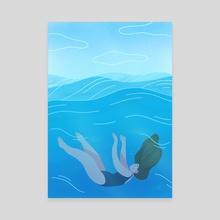 Waves - Canvas by Maureen Keeney