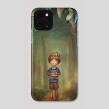 Chickies Walk - Phone Case by Sara Cuervo
