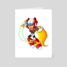 Zero Chibi Attack - Art Card by Kristen Hartbarger