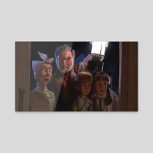 The Peabodys - Acrylic by Jeff Delgado