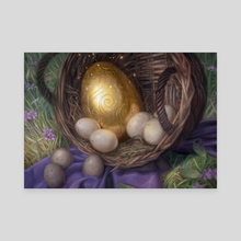Golden Egg - Canvas by Lindsey Look
