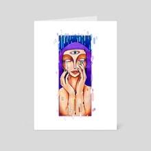 Defragment - Art Card by s.Jane Mills