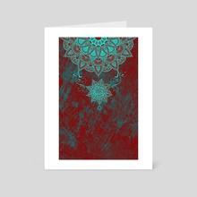 Mandala drop - Art Card by Alexandre Ibáñez