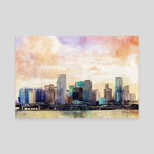 Miami Afternoon - Mixed Media - Canvas by Dreamframer