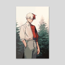 Todoroki Fashion - Acrylic by fenkko