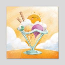 Happy Sunday Sundae - Acrylic by Ffion Evans