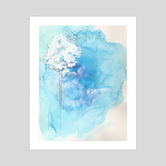 Paysage bleu by Emilien Corbinaud Lorenz