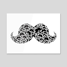 Mustacheception - Acrylic by Chellzasaur