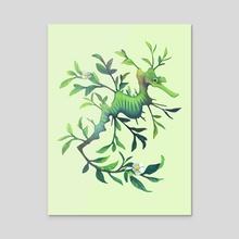 March - Fragrant Leaf - Acrylic by Heather Penn