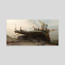 The Junk Collector - Canvas by Hamish Frater