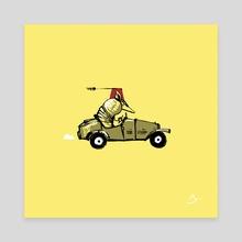 Armadillo (Mini) - Canvas by Mal Jones